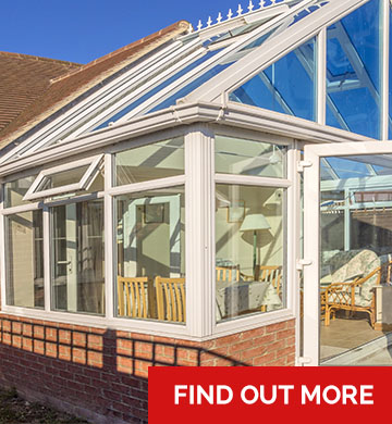 A glass conservatory from DGR Bristol - find out more sign